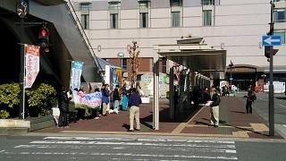 安全保障関連法の廃止を求める街宣活動2016