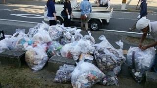 2016年8月8日 花火大会翌日の清掃ボランティア活動